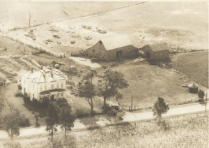 Arial view of Old Bachelor's farm