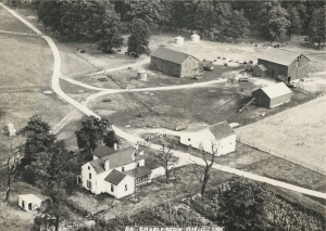 Arial view of Wildman farm on US 42