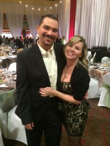 me and hubby at fundraiser