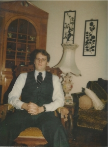 Me in early 1980's before job interview