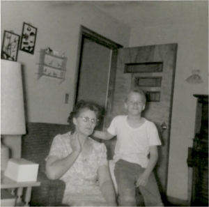 Mom and me around 1964