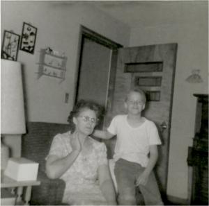 Mom and me around 1964
