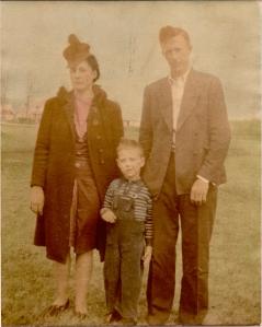 Mom, Dad and Baris (Brother) Circa 1940