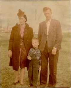 Mom, Dad and Baris (Brother) Circa 1940